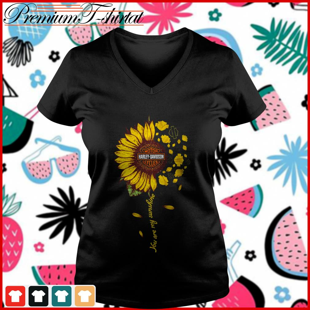 You Are My Sunshine Cute Harley-Davidson Motorcycles In Sunflower T-shirt
